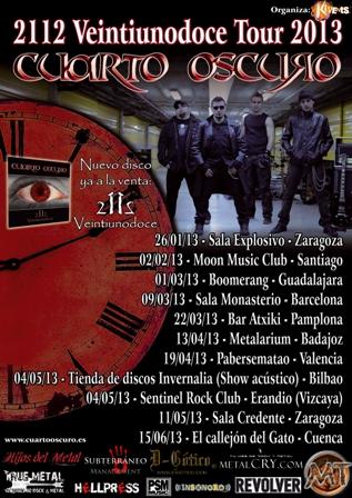 "Gira Cuarto Oscuro: ""2112 Veintuinodoce Tour 2013"""
