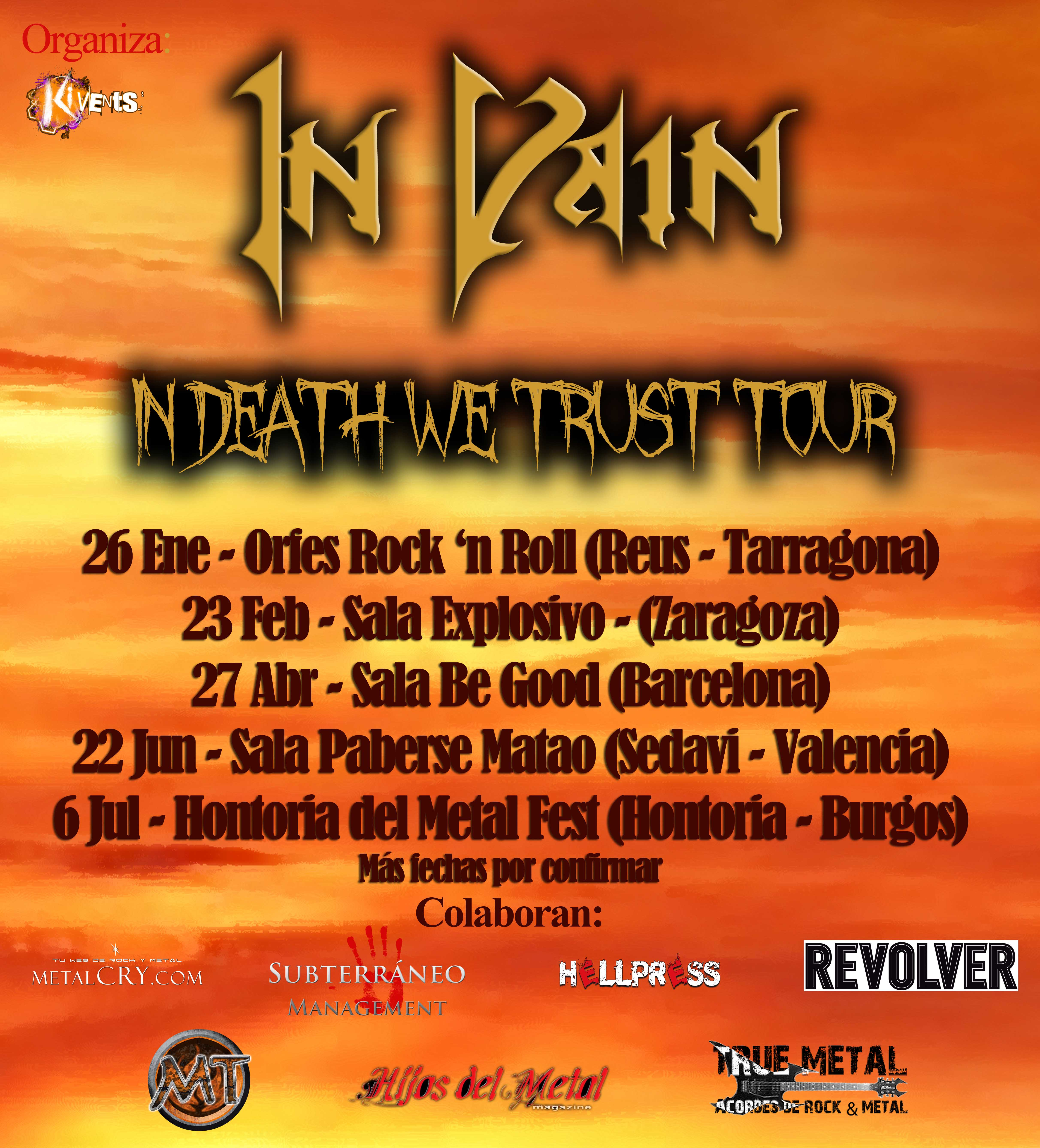 In Vain - In Death We Trust Tour 2013