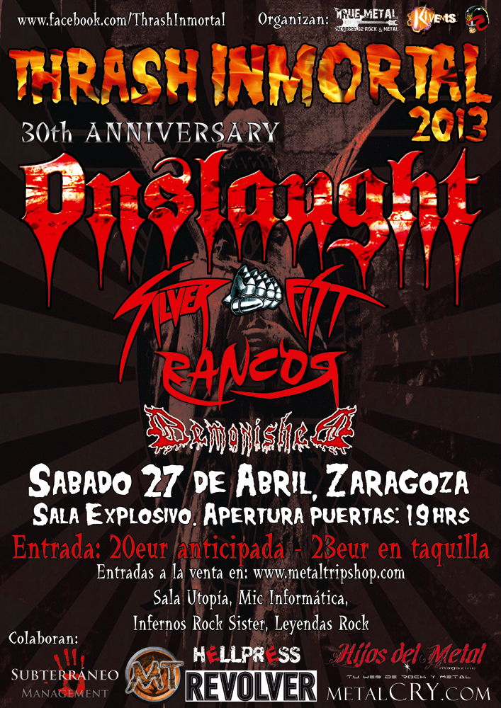 Thrash Inmortal 2013 Zaragoza