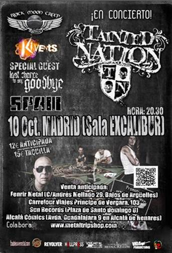 Tainted Nation Madrid
