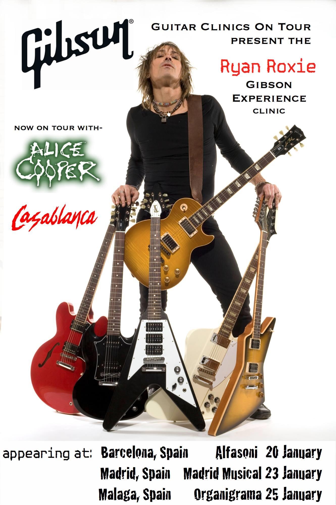 Ryan Roxie Guitar Clinics