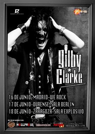 Gilby Clarke Tour