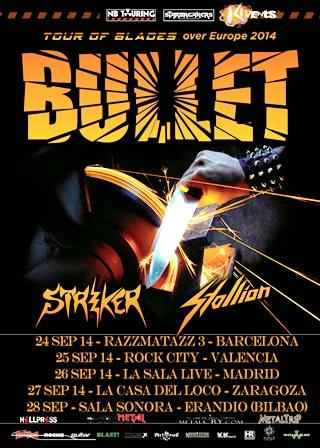 Bullets Tour Poster SP fechas