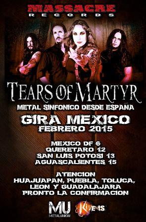 Tears of Martyr gira por Mexico
