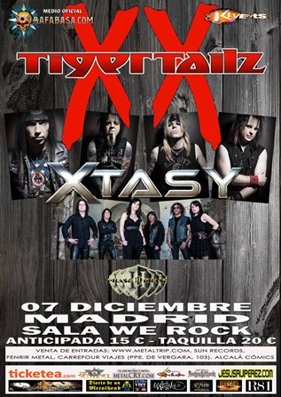 Tigertailz en Madrid