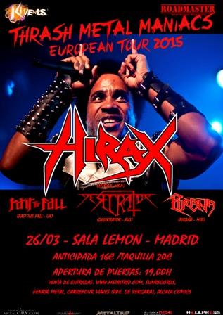 Hirax en Madrid