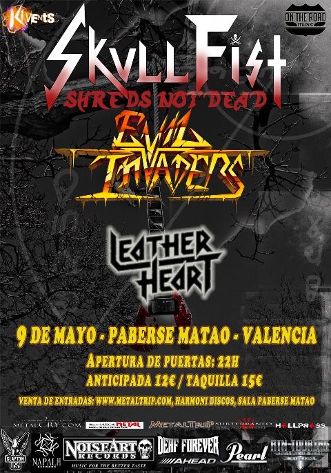 Skull Fist con Evil Invaders confirman fecha en Valencia