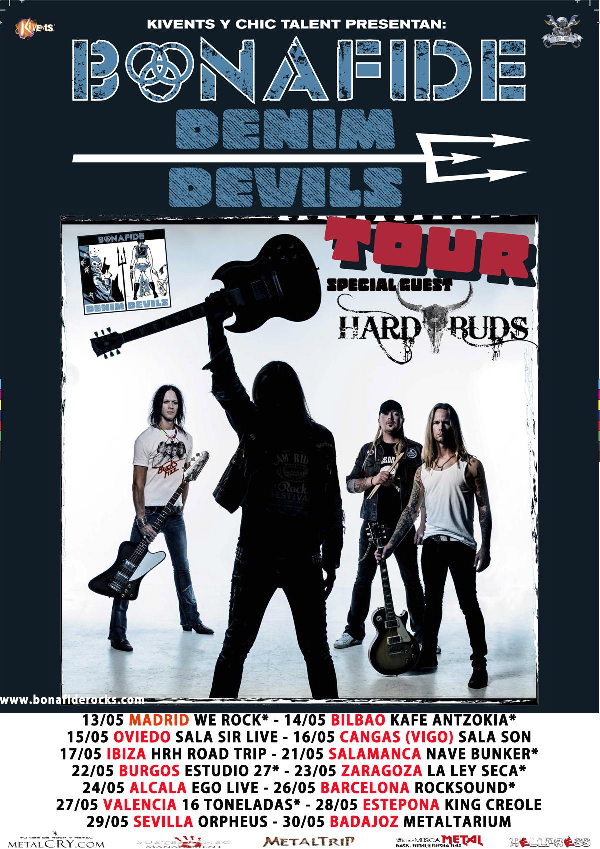 Bonafide: gira Mayo 2015 , bandas acompañantes