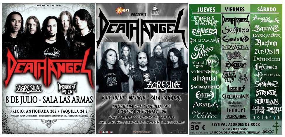 Agresiva acompañará a Death Angel en tres fechas en España