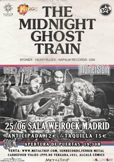 The Midnight Ghost Train, Stoner Rock americano en Madrid