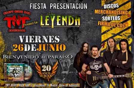 LEYENDA, fiesta presentación de Bienvenido Al Paraiso
