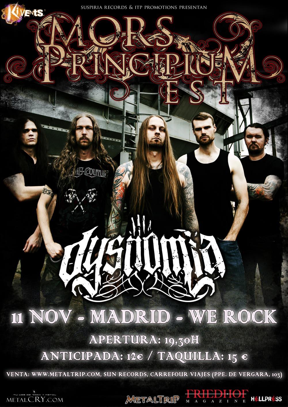 Mors Principium Est en Madrid el 11 de Noviembre