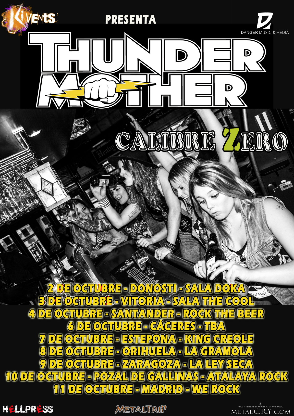Thundermother cartel fechas web