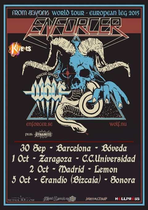 Enforcer y su From Beyond World Tour 2015 en España