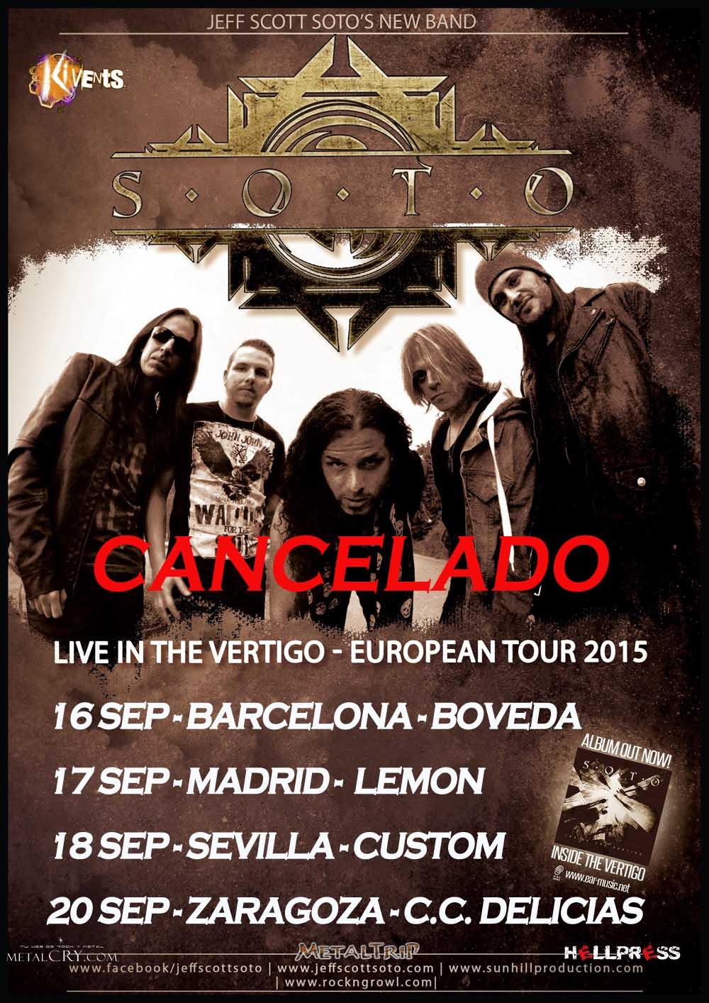 SOTO: Tour Cancelado