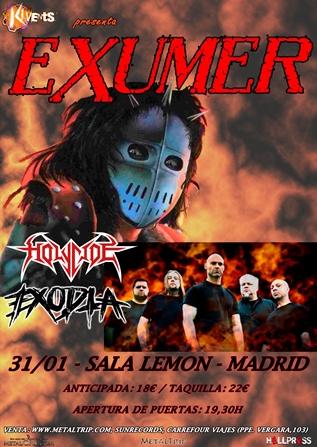 Exumer en Madrid