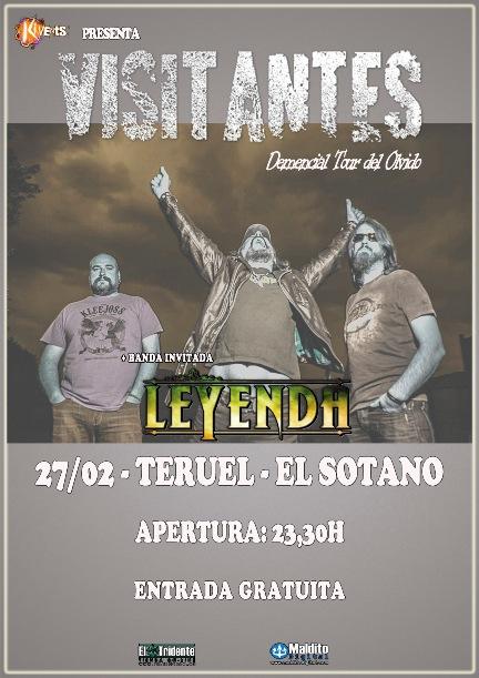 Visitantes Leyenda en Teruel