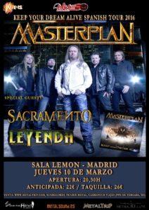 Masterplan este jueves 10 de Marzo en Madrid: horarios