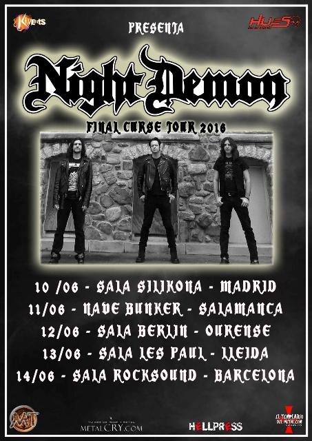 Night Demon, fechas confirmadas en junio