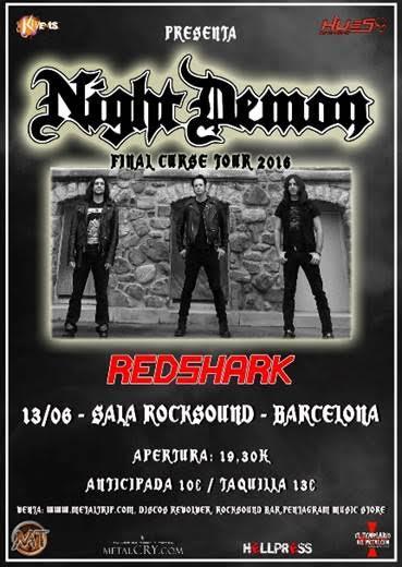 Night Demon en Barcelona