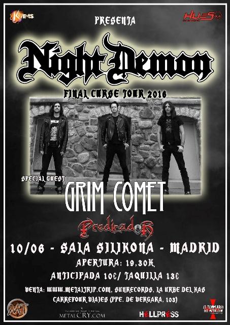 Night Demon en Madrid