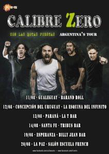 Calibre Zero: comienza su gira por Argentina y nuevas fechas en España