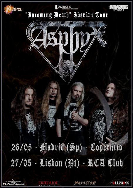 Asphyx en Madrid y Lisboa