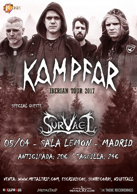 Kampfar en Madrid el 5 de abril