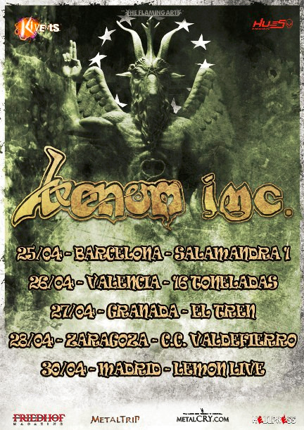 Venom INC, gira española en abril