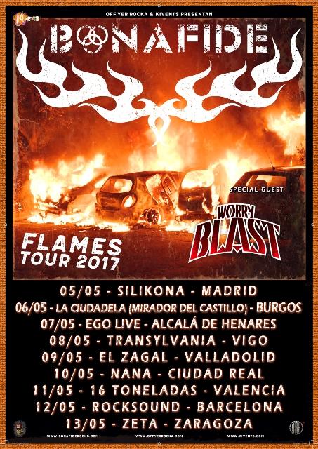 Bonafide, actualización en el Flames Tour 2017