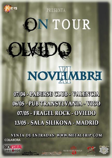 Olvido y Noviembre XI presentan On Tour