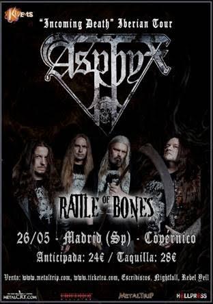 Asphyx en Madrid, banda acompañante
