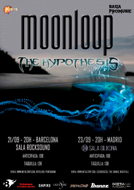 Moonloop con The Hypothesis en Barcelona y Madrid