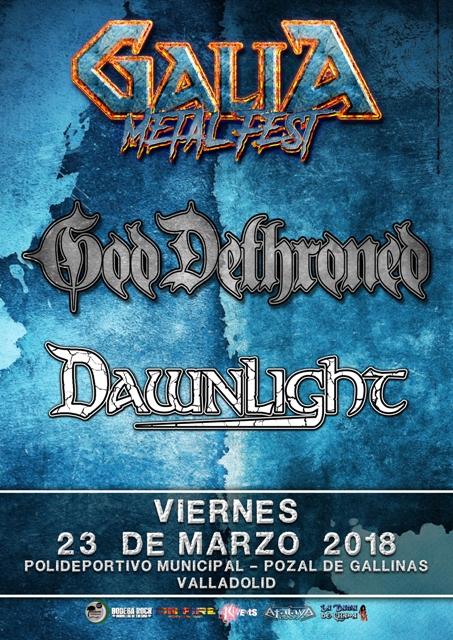 Galia Metal Fest 2018 - God Dethroned & Dawnlight