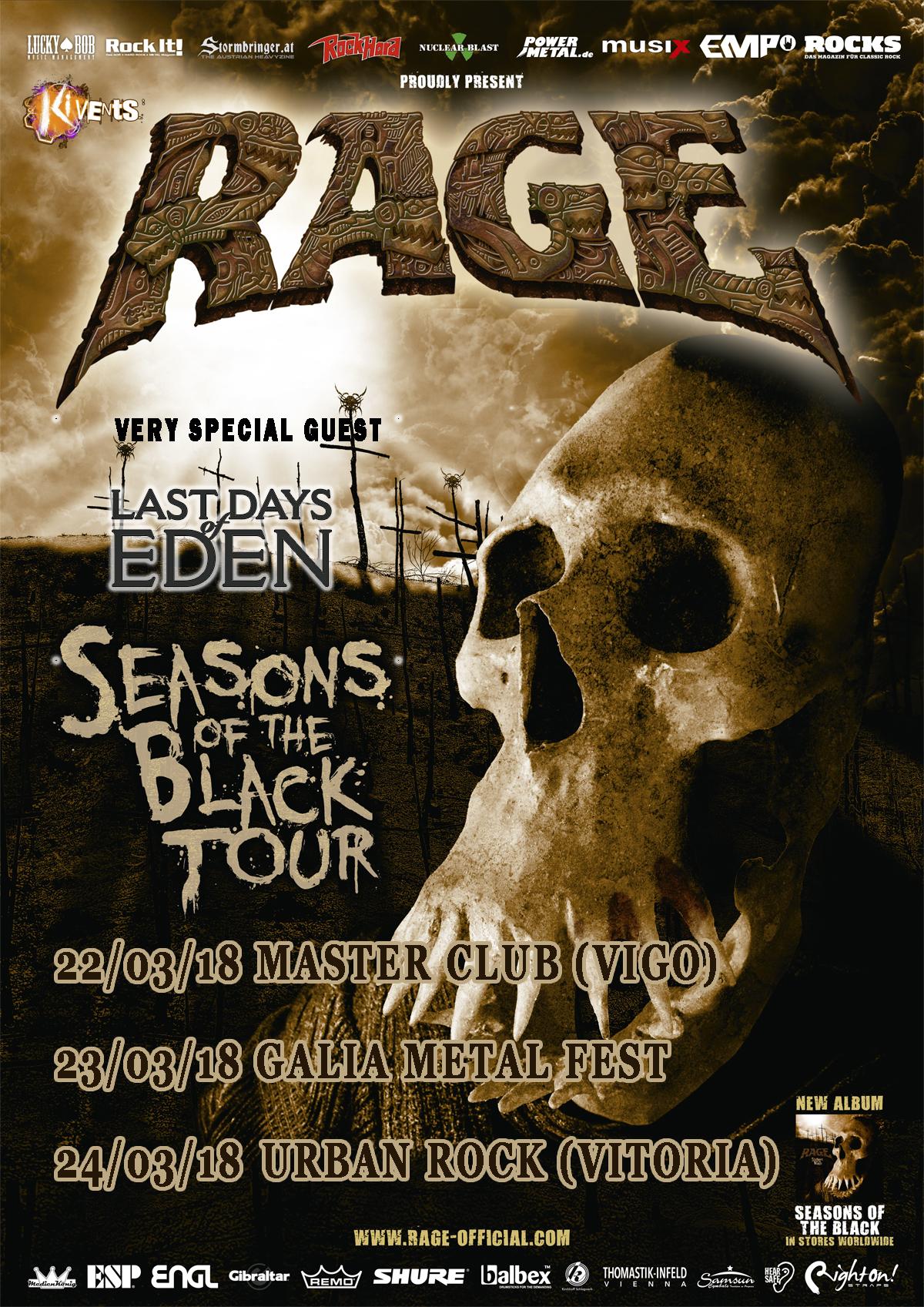 Rage - Seasons Of The Black Tour 2018