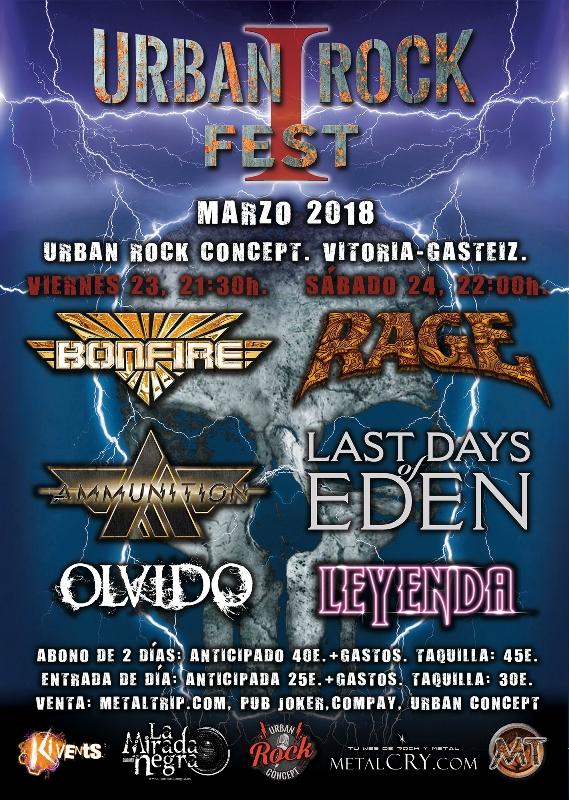 Información del Urban Rock Fest I