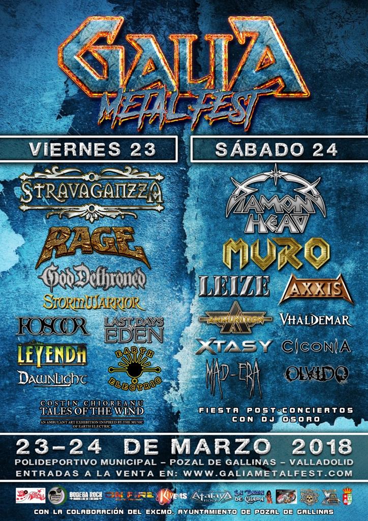 Publicados los horarios del Galia Metal Fest 2018