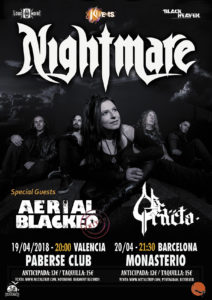 Nightmare en Valencia y Barcelona esta semana