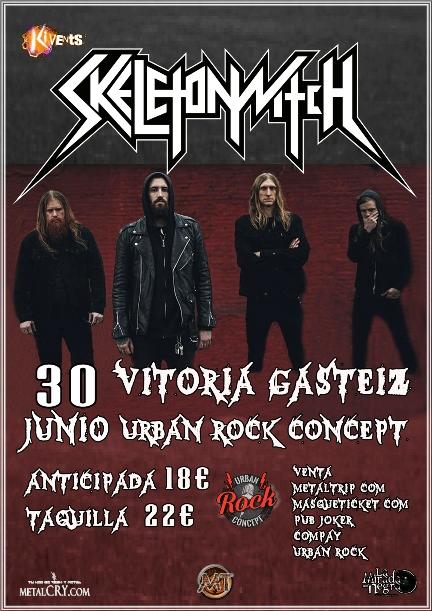 Skeletonwitch en Vitoria/Gasteiz el 30 de junio