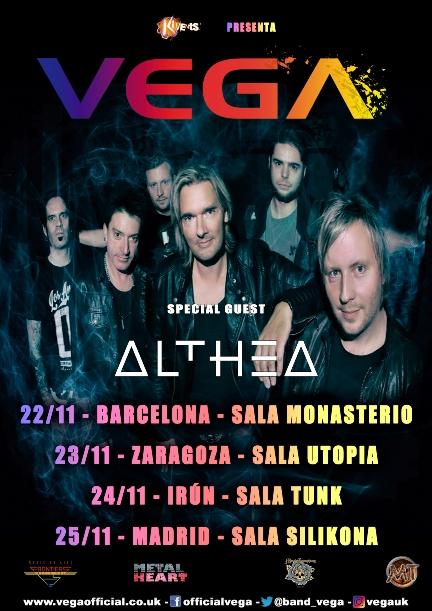 La banda inglesa de Rock melódico Vega visita nuestro país