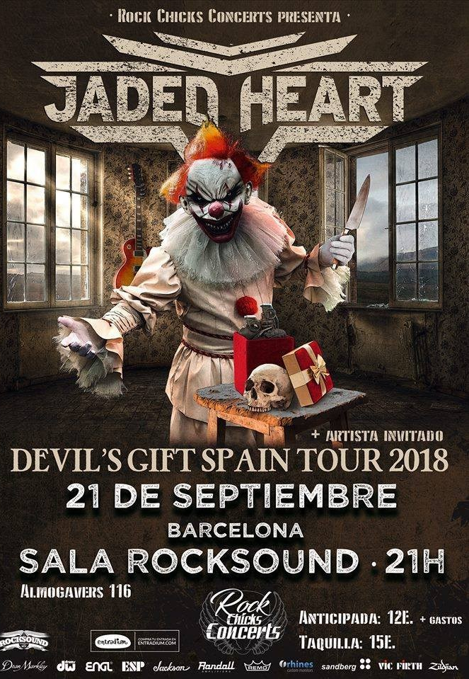 Jaded Heart en Barcelona