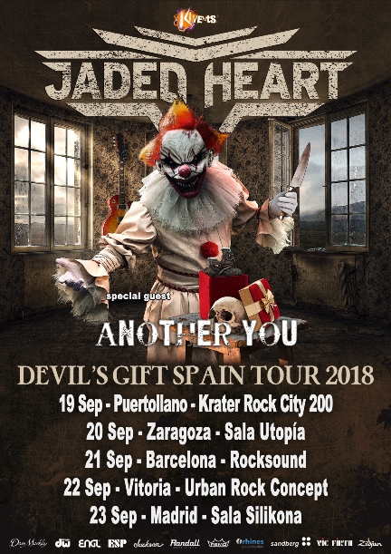 Jaded Heart - Devil's Gift Spain Tour 2018
