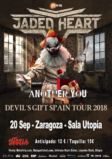 Jaded Heart en Zaragoza