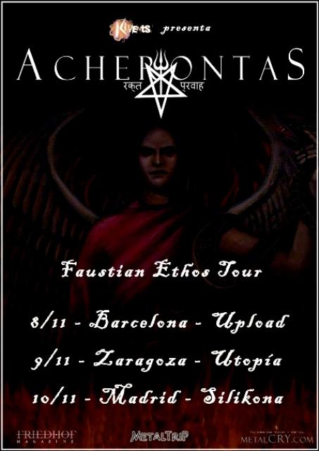 Gira de Acherontas por España, todos los detalles