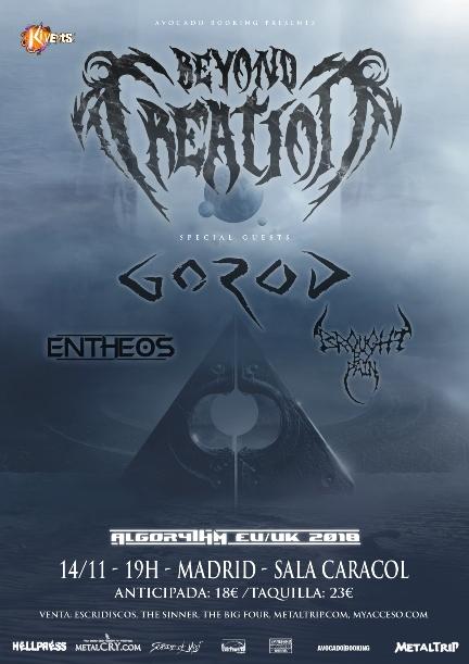 Beyond Creation el 14 de noviembre en Madrid: todos los detalles