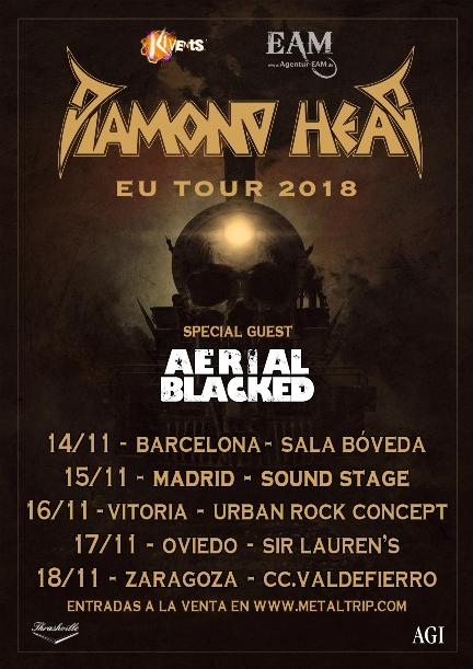 Diamond Head esta semana en España: todos los detalles