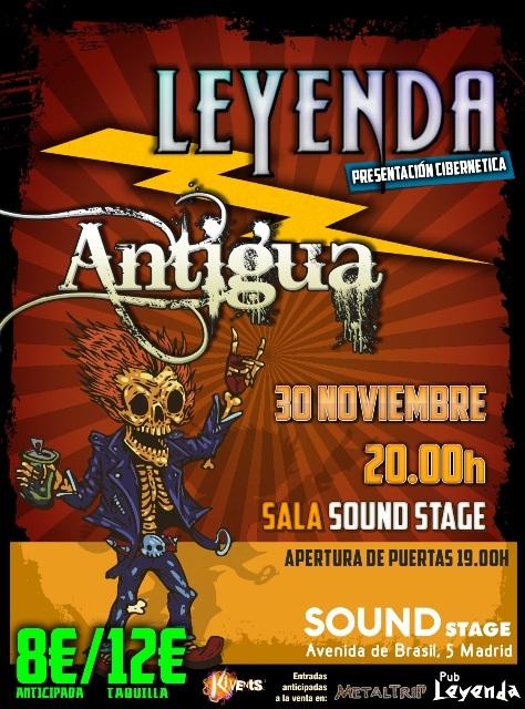 Concierto Fin de Gira LEYENDA el 30 de Noviembre en Madrid