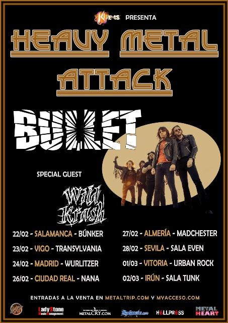 Bullet y su Heavy Metal Attack tour en febrero