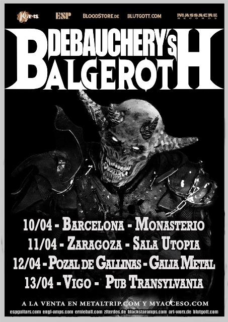 Debauchery Vs. Balgeroth Tour