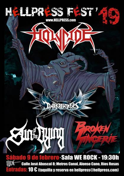 Holycide en el Hellpress Fest 2019